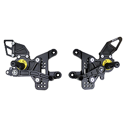 Driven Racing D-Axis Rearset - Black - 2009 Kawasaki ZX600 - Ninja ZX-6R Driven Racing Clip-Ons - 51mm