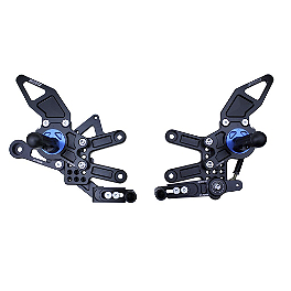 Driven Racing D-Axis Rearset - Black - 2011 BMW S1000RR Woodcraft Complete Rearset Kit