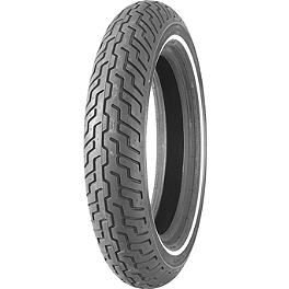 Dunlop Harley Davidson D402 Narrow White Stripe Front Tire - MT90-16B - Dunlop Harley Davidson D402 Slim Whitewall Rear Tire - MT90-16B