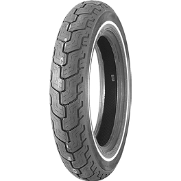 Dunlop Harley Davidson D402 Slim Whitewall Rear Tire - MT90-16B - Dunlop Harley Davidson D402 Narrow White Stripe Front Tire - MT90-16B