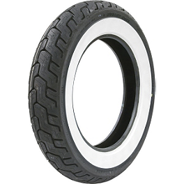 Dunlop Harley Davidson D402 Rear Tire - MT90-16B Wide Whitewall - Dunlop Harley Davidson D402 Front Tire - MT90-16B Wide Whitewall