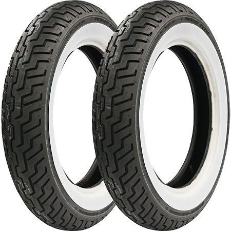 Dunlop Harley Davidson D402 Wide Whitewall Tire Combo - Main