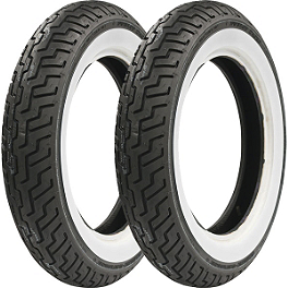 Dunlop Harley Davidson D402 Wide Whitewall Tire Combo - Shinko 250 Whitewall Tire Combo