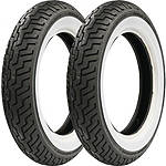 Dunlop Harley Davidson D402 Wide Whitewall Tire Combo - Dunlop Cruiser Products