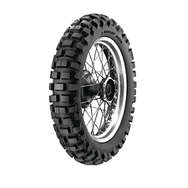 Dunlop D606 Rear Tire - 120/90-18 - 2007 Husqvarna TE450 Dunlop D803 Front Trials Tire - 2.75-21
