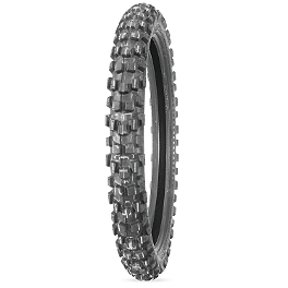 Dunlop D606 Front Tire - 90/90-21 - 1999 Kawasaki KDX220 Dunlop D803 Rear Trials Tire - 4.00-18