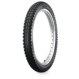 Dunlop D803 Front Trials Tire - 2.75-21 - 1999 Kawasaki KDX220 Dunlop Geomax MX51 Rear Tire - 100/100-18