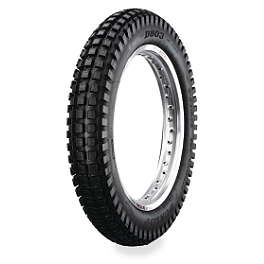 Dunlop D803 Rear Trials Tire - 4.00-18 - 1987 Kawasaki KDX200 Michelin Competition Trials Tire Front - 2.75-21