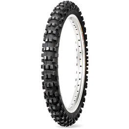 Dunlop D952 Front Tire - 80/100-21 - 1975 Honda CR250 Dunlop Geomax MX31 Rear Tire - 110/90-18