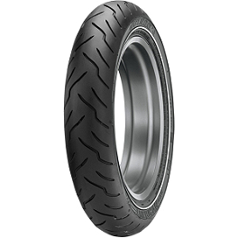 Dunlop American Elite Narrow Whitewall Front Tire - 130/80-17B - Dunlop Harley Davidson K591 Rear Tire - 130/90-16VB