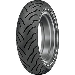 Dunlop American Elite Narrow Whitewall Rear Tire - 180/65-16B - Dunlop Harley Davidson D402 Front Tire - 130/70-18