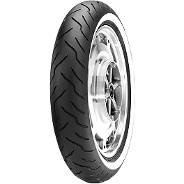 Dunlop American Elite Wide Whitewall Front Tire - 130/90-16B - Metzeler ME880 Rear Tire - 140/90-16 77H Narrow Whitewall