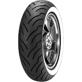 Dunlop American Elite Wide Whitewall Rear Tire - 180/65-16B - Dunlop D251 Front Tire - 150/80R17