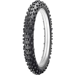 Dunlop Geomax AT81 Front Tire - 90/90-21 - 1997 Yamaha XT225 Dunlop D803 Rear Trials Tire - 4.00-18