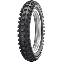 Dunlop Geomax AT81 Desert RC Rear Tire - 120/90-18 - 1991 Yamaha XT350 Dunlop D803 Front Trials Tire - 2.75-21