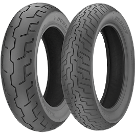 Dunlop D206 Tire Combo - Dunlop K555 Rear Tire - 170/80-15 Wide Whitewall