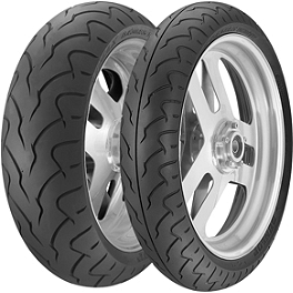 Dunlop D207 / D208 Tire Combo - Dunlop Cruisemax Front Tire - 130/90-16 Wide Whitewall