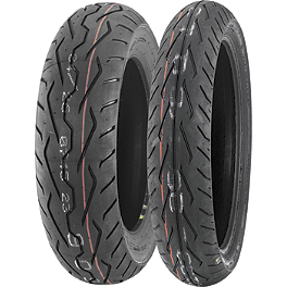 Dunlop D251 Tire Combo - Dunlop Tube MJ/Mm90-19 Straight Metal Stem