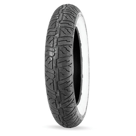 Dunlop D404 Front Tire - 140/80-17 Wide Whitewall - Main