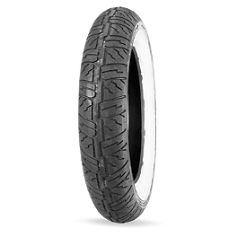 Dunlop D404 Front Tire - 140/80-17 Wide Whitewall - Dunlop Harley Davidson D402 Rear Tire - MT90-16B Wide Whitewall