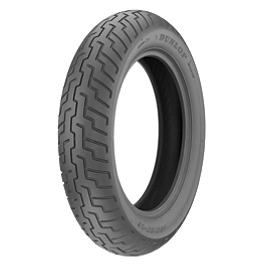 Dunlop D404 Front Tire - 100/90-18 - Dunlop Tube MJ/Mm90-19 Straight Metal Stem