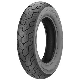 Dunlop D404 Rear Tire - 140/90-15 - Dunlop D404 Front Tire - 140/80-17 Wide Whitewall