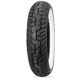 Dunlop D404 Rear Tire - 150/90-15 Wide Whitewall - Dunlop K555 Front Tire - 120/80-17