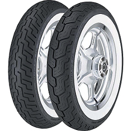 Dunlop D404 Wide Whitewall Tire Combo - Dunlop D404 Front Tire - 140/80-17 Wide Whitewall