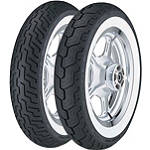 Dunlop D404 Wide Whitewall Tire Combo - Dunlop Motorcycle Tires and Wheels