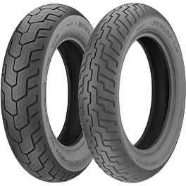 Dunlop D404 Tire Combo - Dunlop Tube MH90-21 Straight Metal Stem
