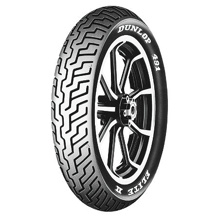 Dunlop 491 Elite II Raised White Letter Front Tire - MM90-19 - Main