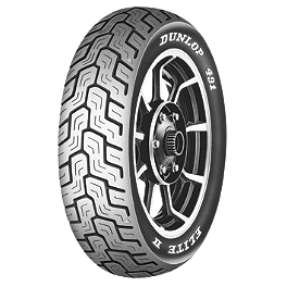 Dunlop 491 Elite II Raised White Letter Rear Tire - MU90B16 - Dunlop Elite 3 Bias Touring Front Tire - 90/90-21