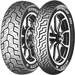 Dunlop 491 Elite II Tire Combo - Dunlop 491 Elite II Raised White Letter Front Tire - MT90B16