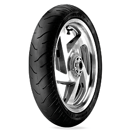 Dunlop Elite 3 Radial Touring Front Tire - 130/70R18 - Dunlop Tube MH90-21 Straight Metal Stem
