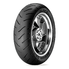 Dunlop Elite 3 Radial Touring Rear Tire - 240/40R18 - Dunlop 491 Elite II Raised White Letter Front Tire - MR90-18