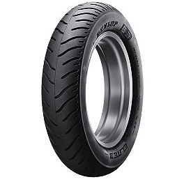 Dunlop Elite 3 Bias Touring Rear Tire - MU90-16B - Dunlop Harley Davidson D402 Narrow White Stripe Front Tire - MT90-16B