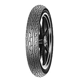 Dunlop F24 Front Tire Tubeless - 110/90-19 - Dunlop Harley Davidson D402 Slim Whitewall Rear Tire - MT90-16B