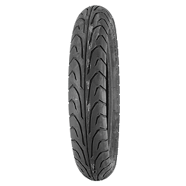 Dunlop GT501 Front Tire - 100/90-19V - Dunlop Tube MT/Mu90-16 Offset Metal Stem