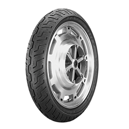 Dunlop K177 Front Tire - 120/90-18 Wide Whitewall - Dunlop K555 Rear Tire - 170/80-15 Wide Whitewall