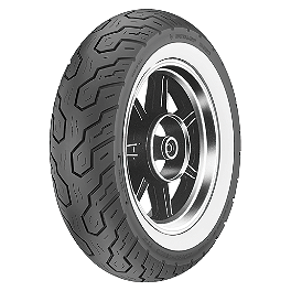 Dunlop K555 Rear Tire - 170/80-15 Wide Whitewall - Dunlop Tube MT/Mu90-16 Offset Metal Stem