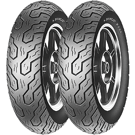 Dunlop K555 Tire Combo - Dunlop 491 Elite II Raised White Letter Front Tire - MT90B16