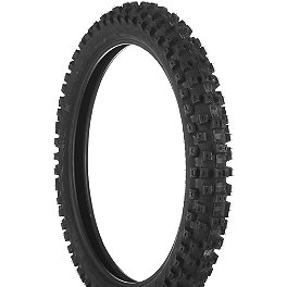 Dunlop Geomax MX51 Front Tire - 70/100-19 - DNA Specialty Front Wheel 1.40x19 - Green/Black