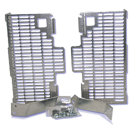DeVol Radiator Guards - 2009 Kawasaki KX250F Works Connection Radiator Braces