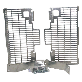 DeVol Radiator Guards - 2010 Kawasaki KX250F Pro Moto Billet Kick-It Kick Stand