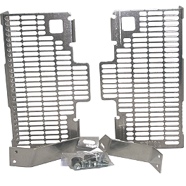 DeVol Radiator Guards - 2006 Suzuki RM125 Pro Moto Billet Kick-It Kick Stand