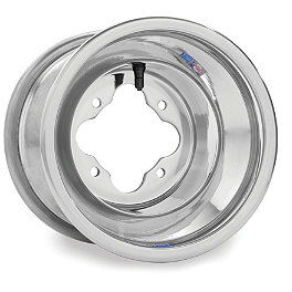 DWT A5 Rear Wheel - 8X8 Polished - 2012 Yamaha YFZ450 DWT .160 Aluminum Black Label Front Wheel - 10X5 3B+2N