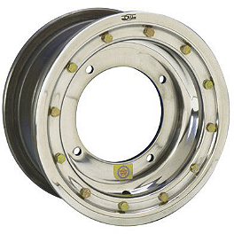DWT Ultimate Conventional Beadlock Rear Wheel - 8X8 3B+5N - 2012 Kawasaki KFX450R DWT A5 Front Wheel - 10X5 4+1 Polished