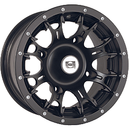 DWT Diablo Front Wheel - 12X7 Black - DWT Diablo Rear Wheel - 14x8 Black
