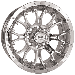 DWT Diablo Rear Wheel - 12X7 Chrome - DWT Diablo Front Wheel - 14X6 Chrome