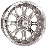 DWT Diablo Rear Wheel - 12X7 Chrome - Utility ATV Rims & Wheels